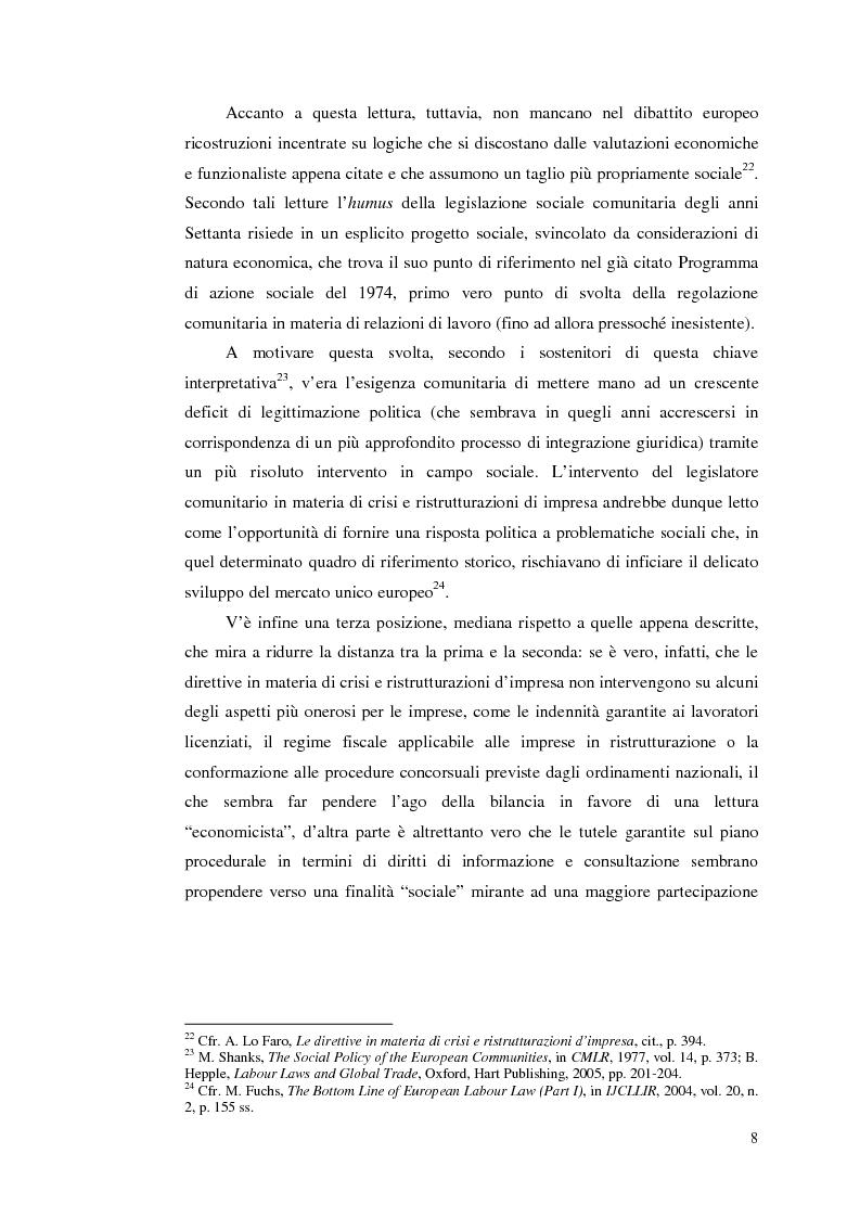 Anteprima della tesi: Le direttive comunitarie in materia di crisi e ristrutturazione d'impresa, Pagina 7
