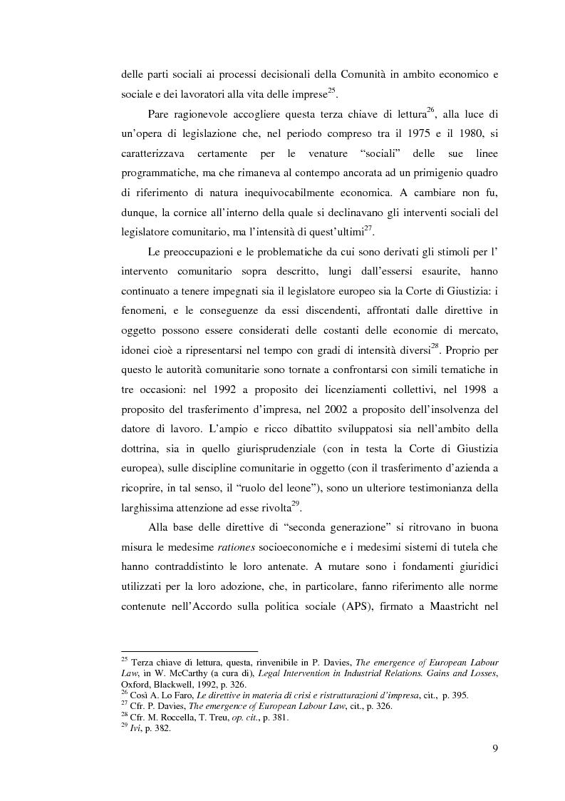 Anteprima della tesi: Le direttive comunitarie in materia di crisi e ristrutturazione d'impresa, Pagina 8