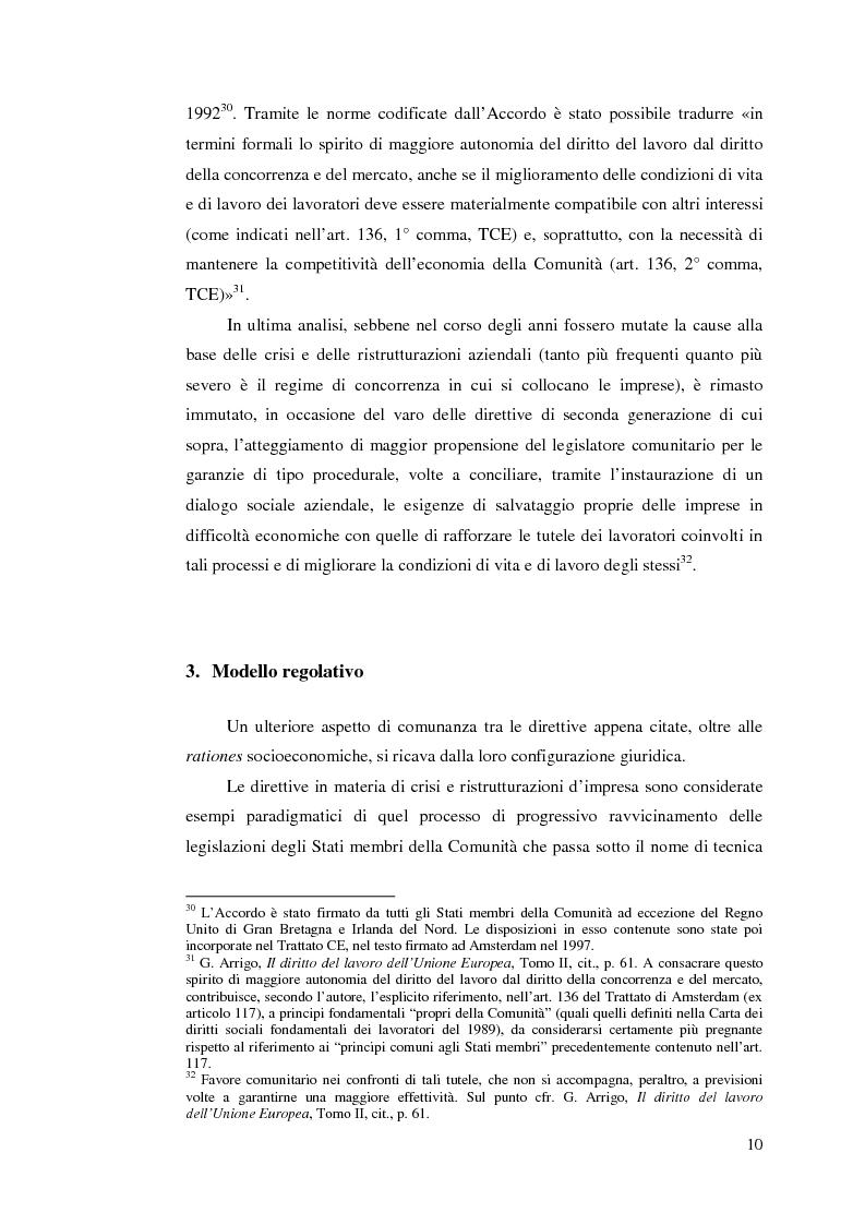 Anteprima della tesi: Le direttive comunitarie in materia di crisi e ristrutturazione d'impresa, Pagina 9