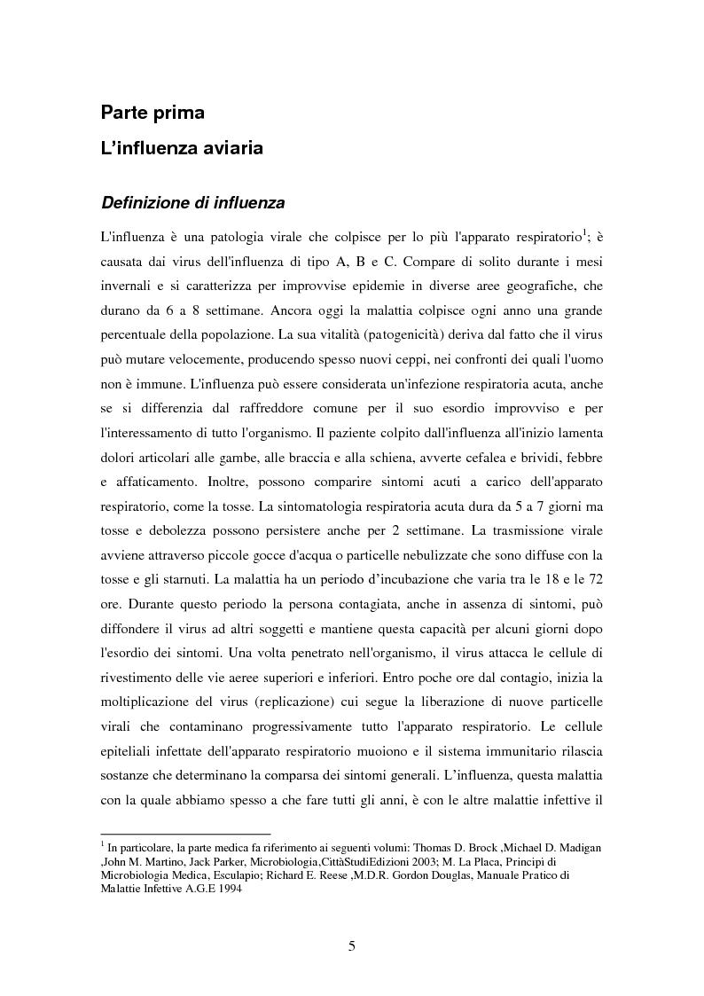 Anteprima della tesi: Influenza aviaria in Italia: pluralismo dell'informazione e crisis management della comunicazione, Pagina 4