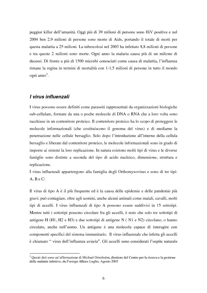 Anteprima della tesi: Influenza aviaria in Italia: pluralismo dell'informazione e crisis management della comunicazione, Pagina 5