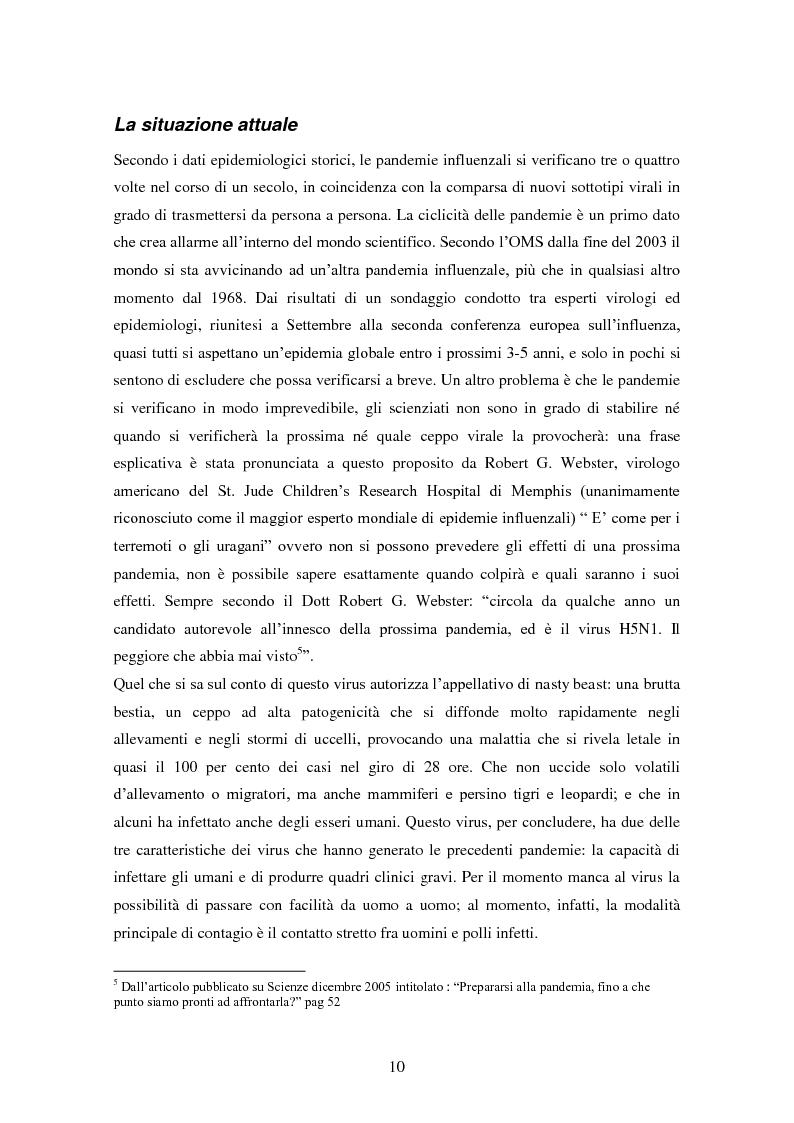 Anteprima della tesi: Influenza aviaria in Italia: pluralismo dell'informazione e crisis management della comunicazione, Pagina 9