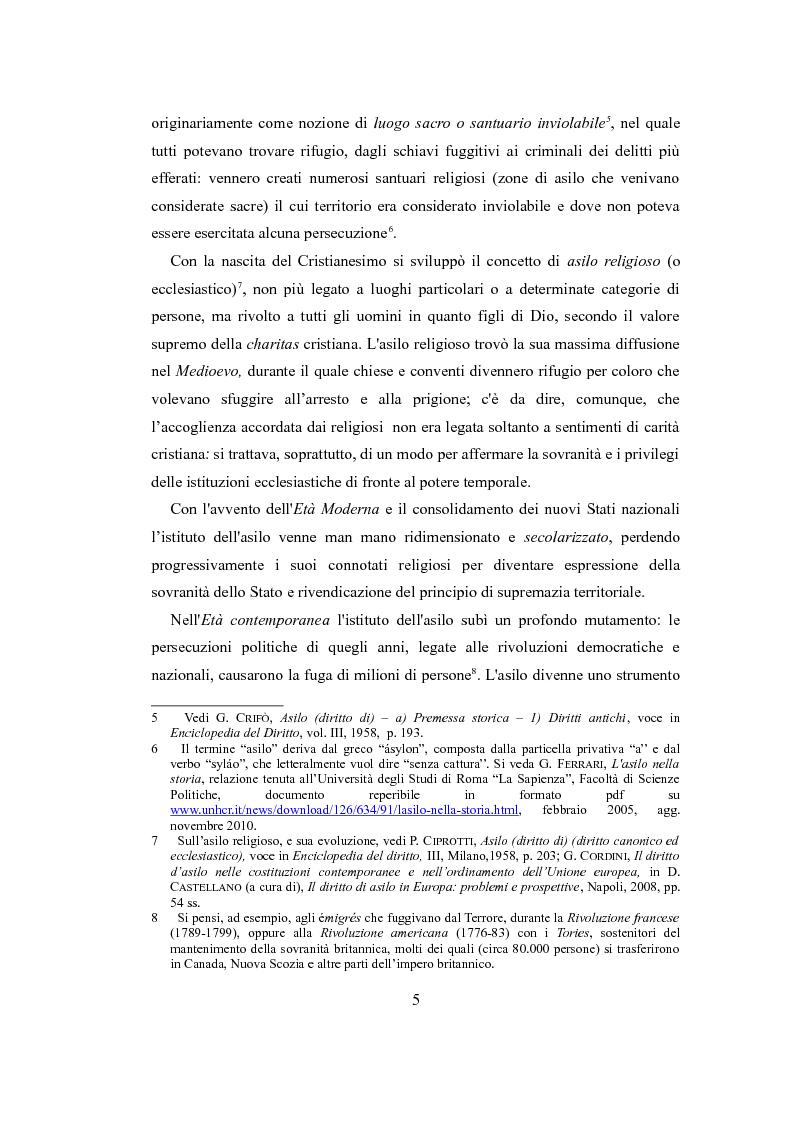 """Anteprima della tesi: Le nuove politiche europee sul diritto d'asilo. """"La protezione dei rifugiati e dei richiedenti asilo nello spazio comune europeo di libertà, sicurezza e giustizia"""", Pagina 3"""