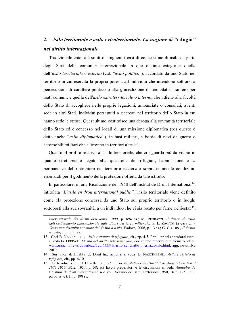 """Anteprima della tesi: Le nuove politiche europee sul diritto d'asilo. """"La protezione dei rifugiati e dei richiedenti asilo nello spazio comune europeo di libertà, sicurezza e giustizia"""", Pagina 5"""