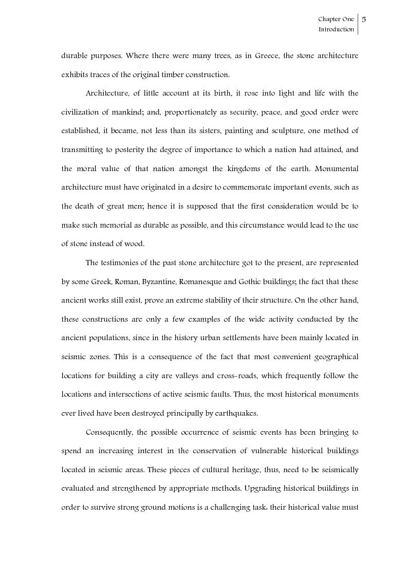 Anteprima della tesi: Seismic response control of rigid block systems by using Tendon System: the case of Greek column, Pagina 6