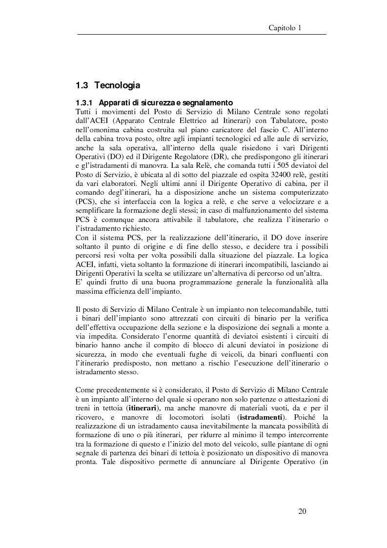 Anteprima della tesi: Programma di esercizio della stazione di Milano Centrale in funzione dell'attivazione dell'innesto della nuova linea Venezia, Pagina 10