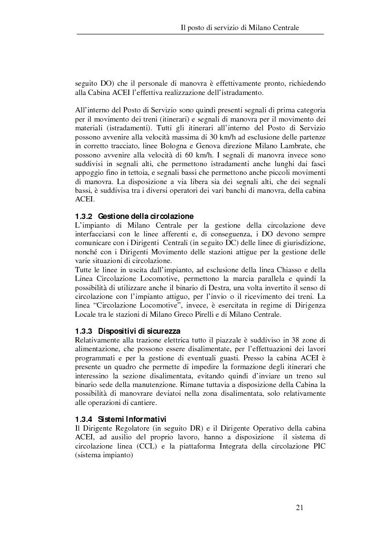 Anteprima della tesi: Programma di esercizio della stazione di Milano Centrale in funzione dell'attivazione dell'innesto della nuova linea Venezia, Pagina 11