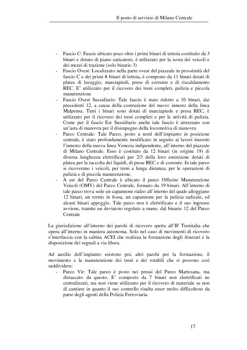 Anteprima della tesi: Programma di esercizio della stazione di Milano Centrale in funzione dell'attivazione dell'innesto della nuova linea Venezia, Pagina 7