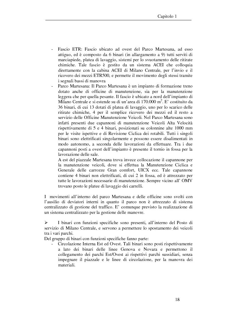 Anteprima della tesi: Programma di esercizio della stazione di Milano Centrale in funzione dell'attivazione dell'innesto della nuova linea Venezia, Pagina 8
