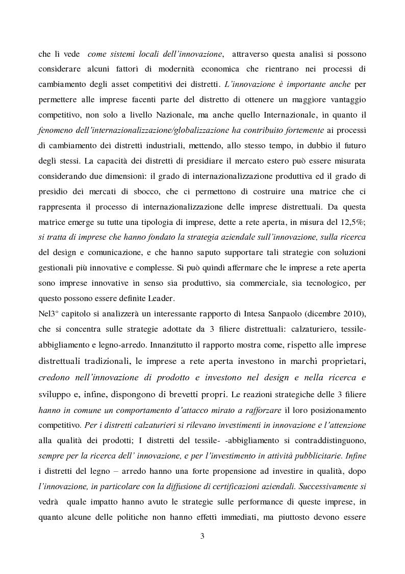 Anteprima della tesi: Strategie di innovazione dei distretti industriali italiani, Pagina 4