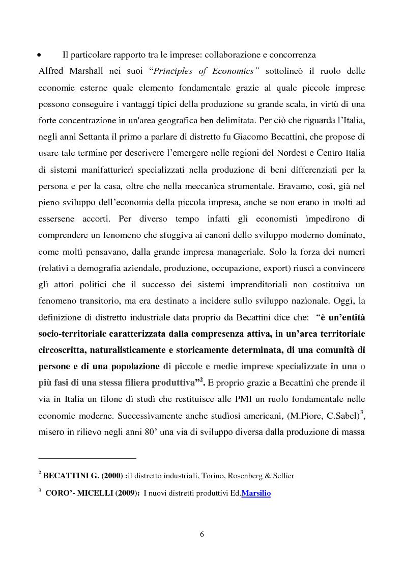 Anteprima della tesi: Strategie di innovazione dei distretti industriali italiani, Pagina 7