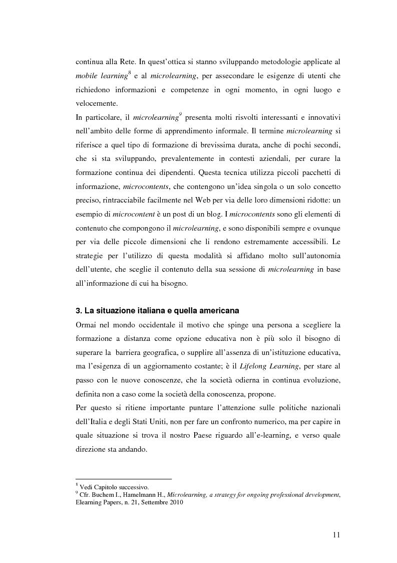 Anteprima della tesi: Usabilità e e-learning: uno studio sull'apprendimento dell'italiano online, Pagina 10