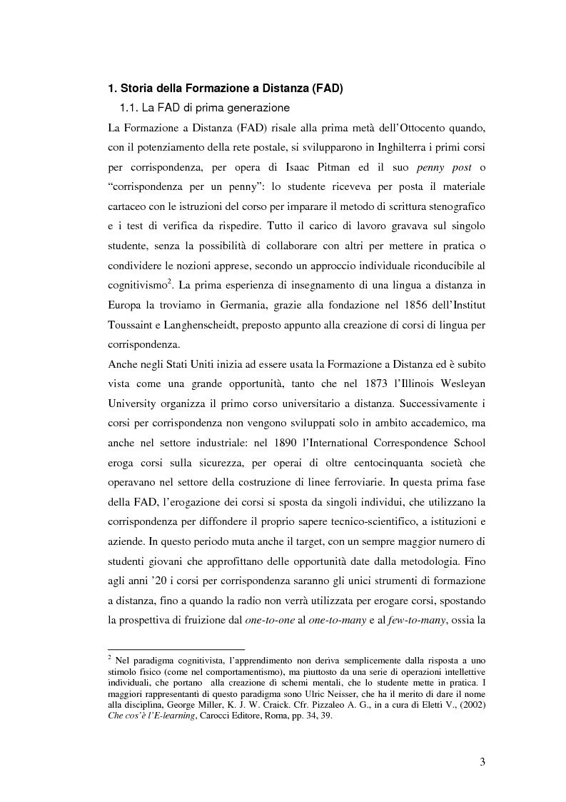 Anteprima della tesi: Usabilità e e-learning: uno studio sull'apprendimento dell'italiano online, Pagina 2