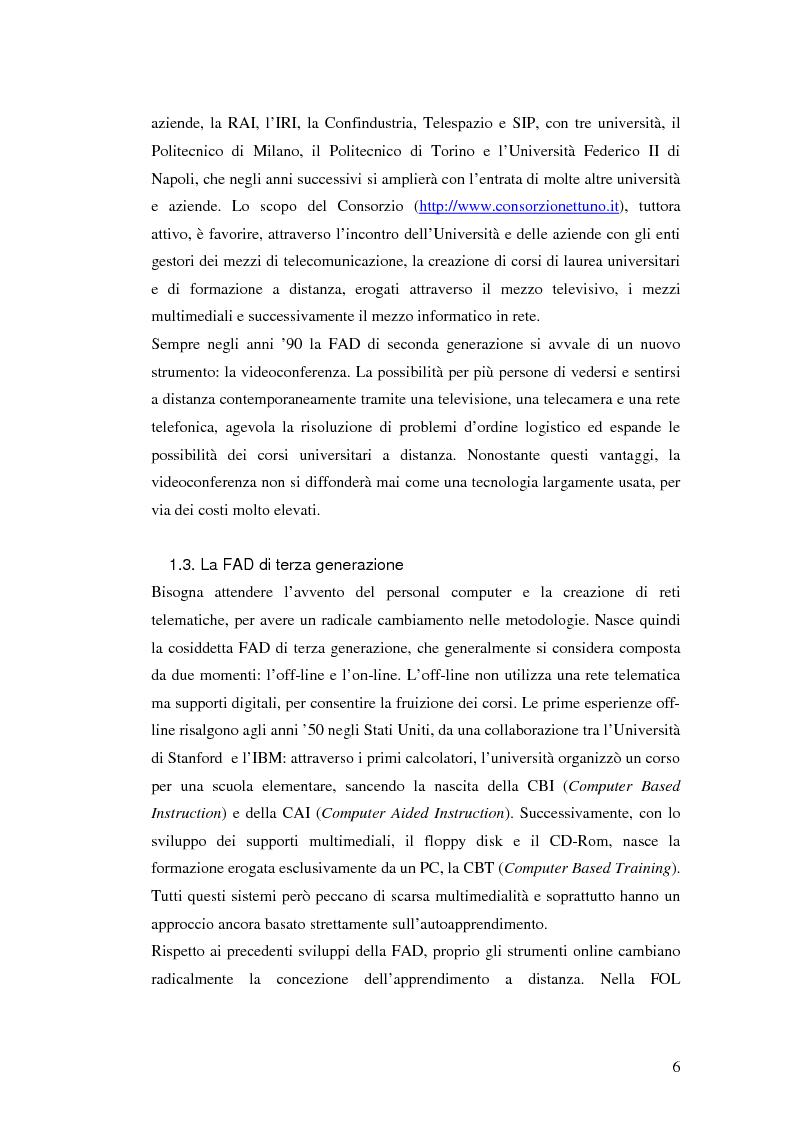 Anteprima della tesi: Usabilità e e-learning: uno studio sull'apprendimento dell'italiano online, Pagina 5