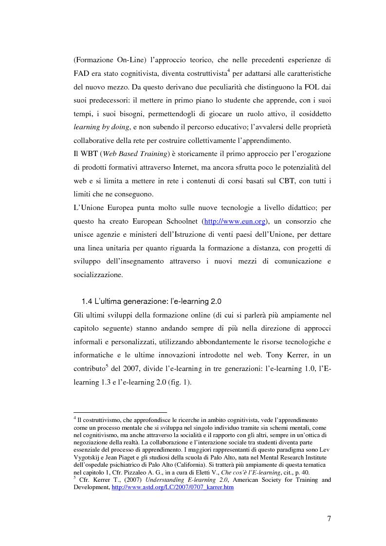 Anteprima della tesi: Usabilità e e-learning: uno studio sull'apprendimento dell'italiano online, Pagina 6