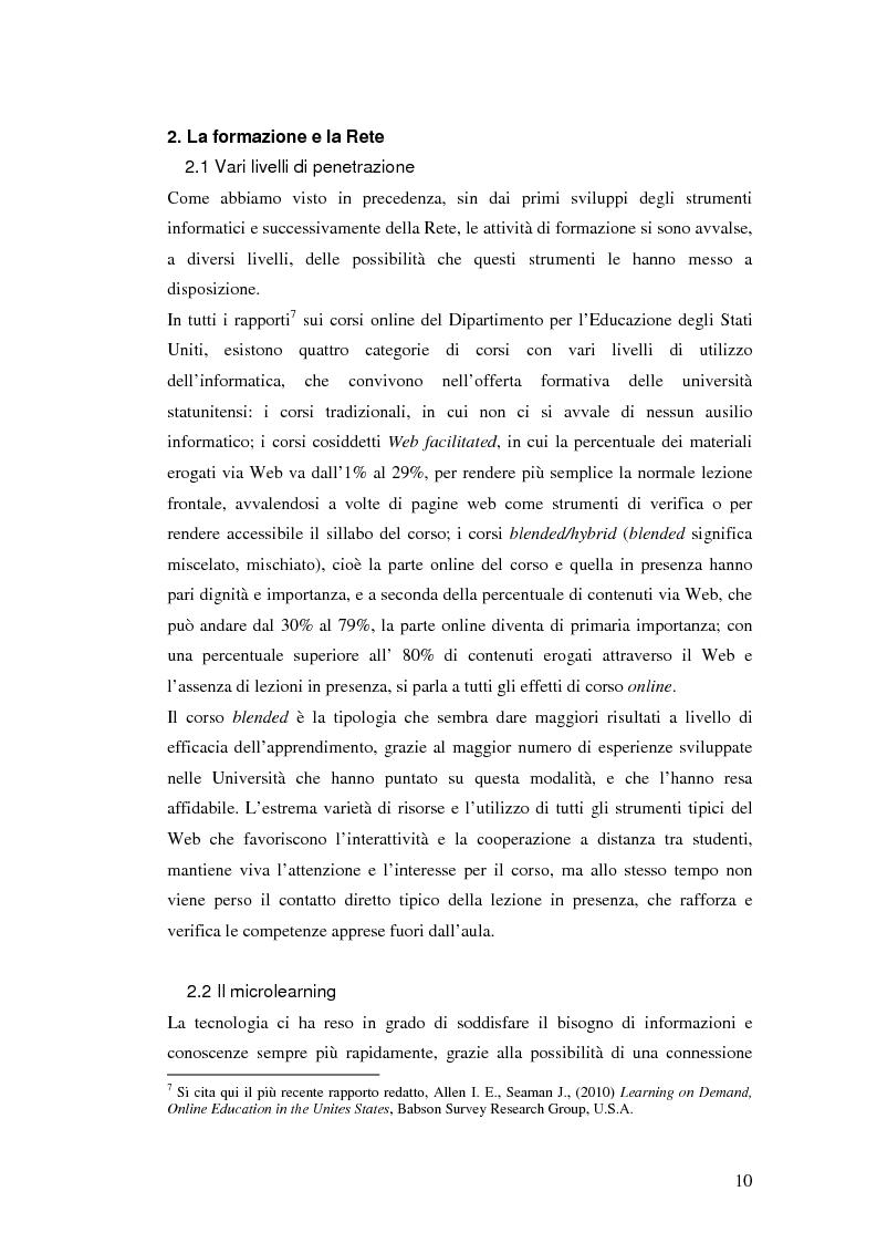 Anteprima della tesi: Usabilità e e-learning: uno studio sull'apprendimento dell'italiano online, Pagina 9