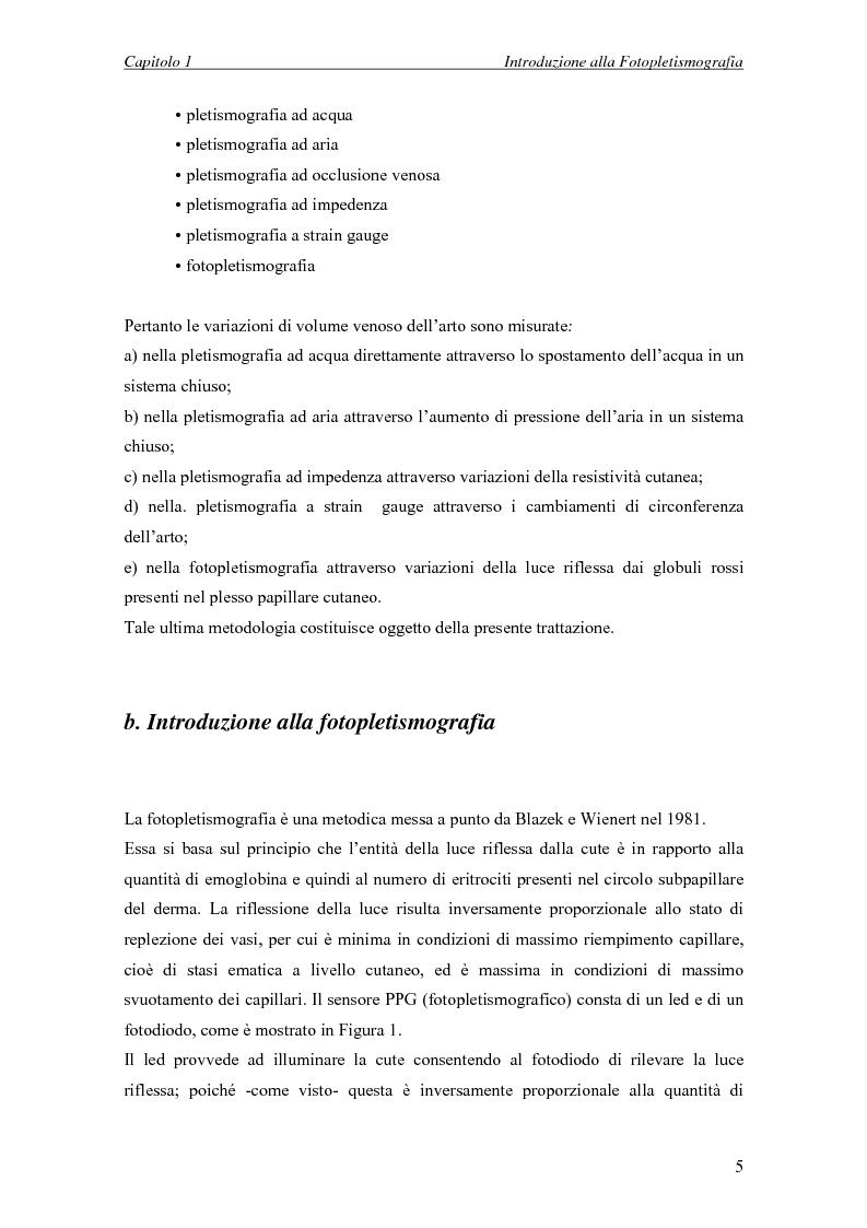 Anteprima della tesi: Progettazione di un sistema embedded per il rilievo della pulsazione cardiaca tramite un sensore fotopletismografico, Pagina 3