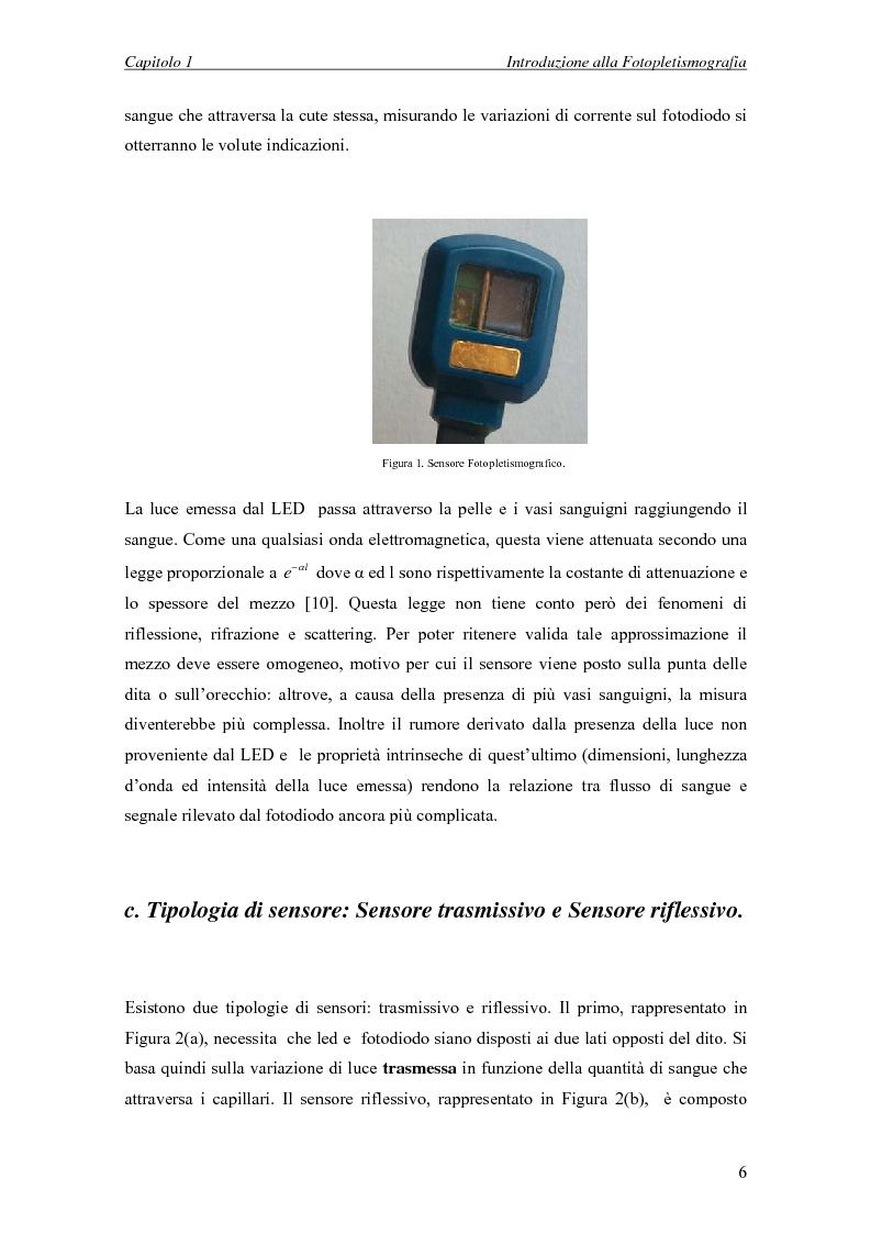 Anteprima della tesi: Progettazione di un sistema embedded per il rilievo della pulsazione cardiaca tramite un sensore fotopletismografico, Pagina 4