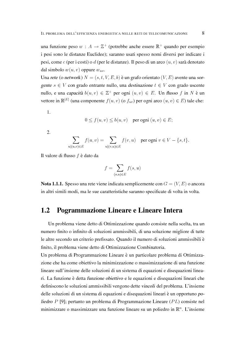Anteprima della tesi: Il problema dell'efficienza energetica nelle reti di telecomunicazione, Pagina 7
