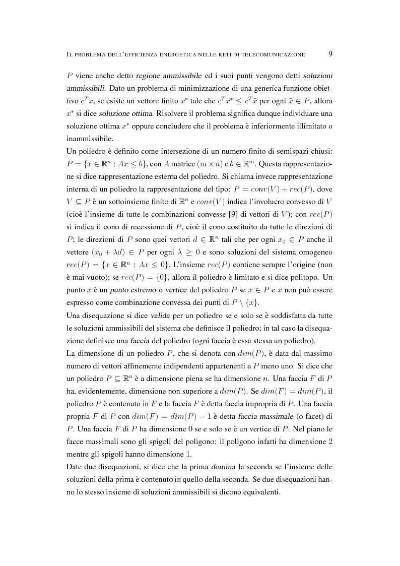 Anteprima della tesi: Il problema dell'efficienza energetica nelle reti di telecomunicazione, Pagina 8