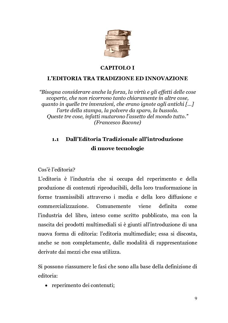 Anteprima della tesi: Analisi di un'Editoria che cambia, Pagina 6