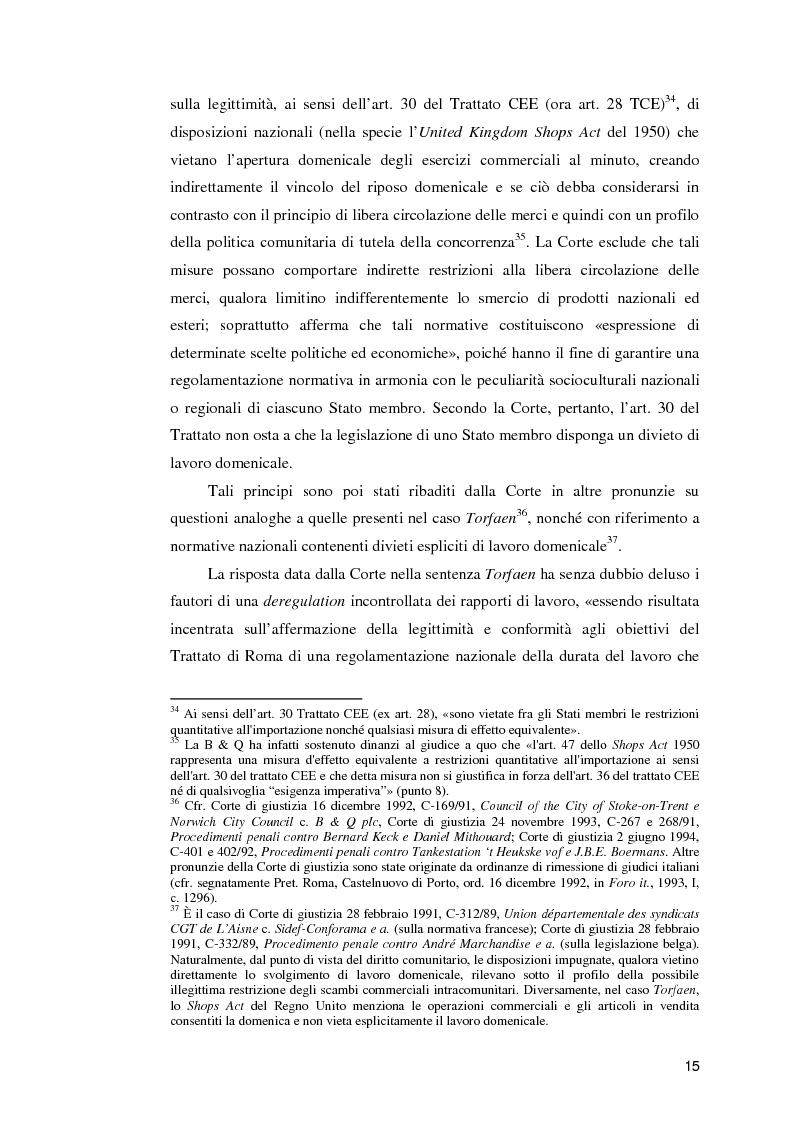 Anteprima della tesi: La normativa comunitaria in materia di orario di lavoro, Pagina 10