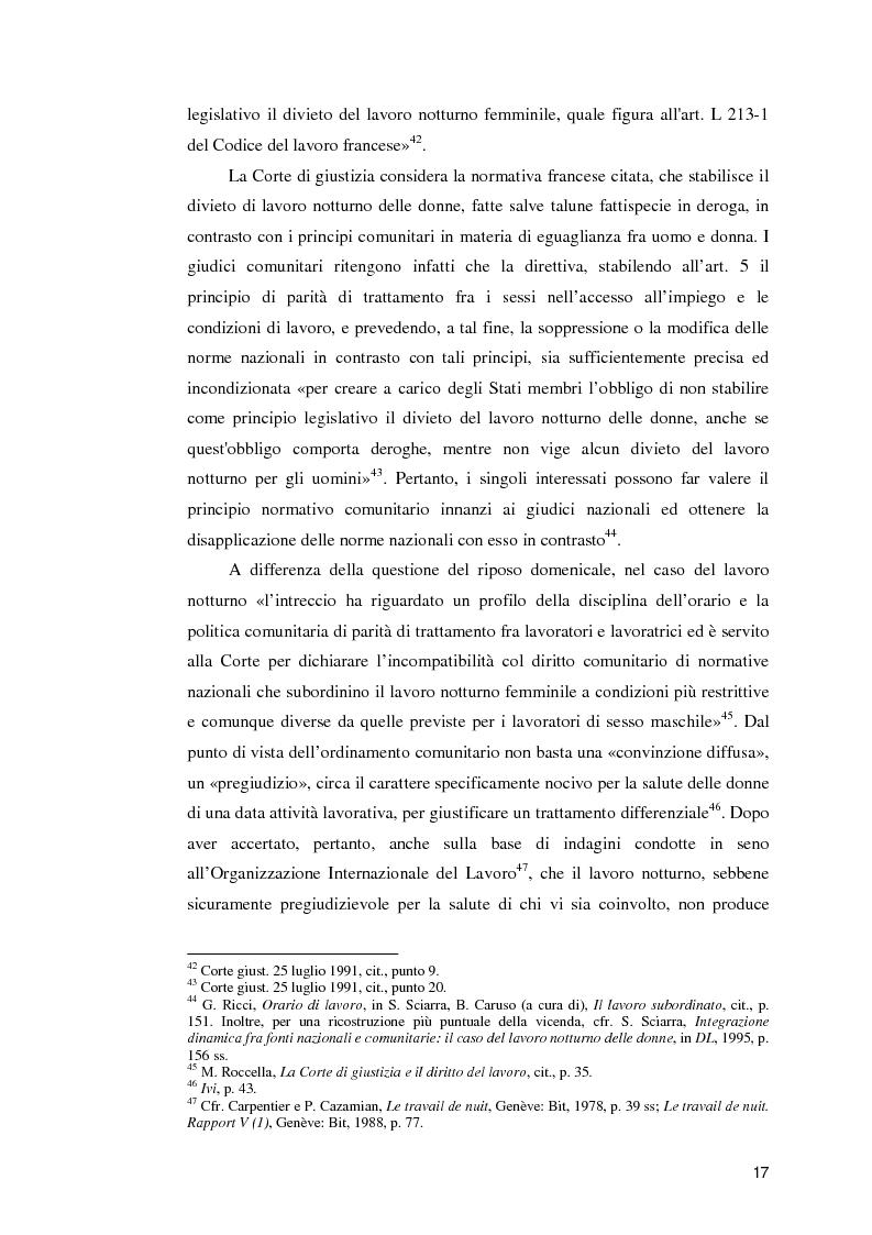 Anteprima della tesi: La normativa comunitaria in materia di orario di lavoro, Pagina 12
