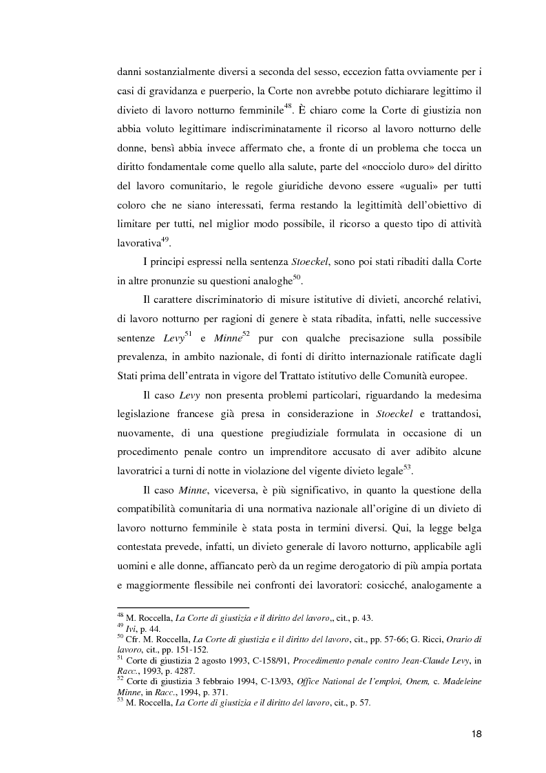 Anteprima della tesi: La normativa comunitaria in materia di orario di lavoro, Pagina 13
