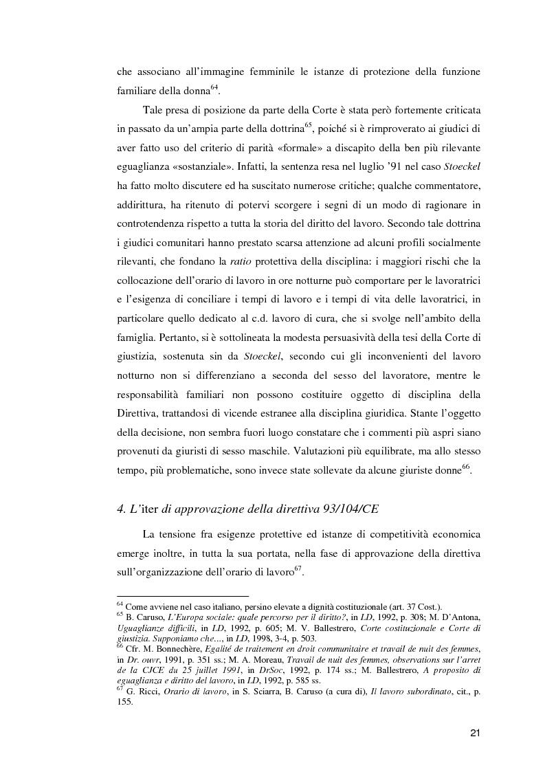 Anteprima della tesi: La normativa comunitaria in materia di orario di lavoro, Pagina 16