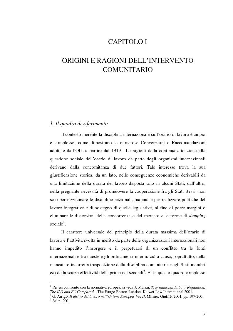 Anteprima della tesi: La normativa comunitaria in materia di orario di lavoro, Pagina 2