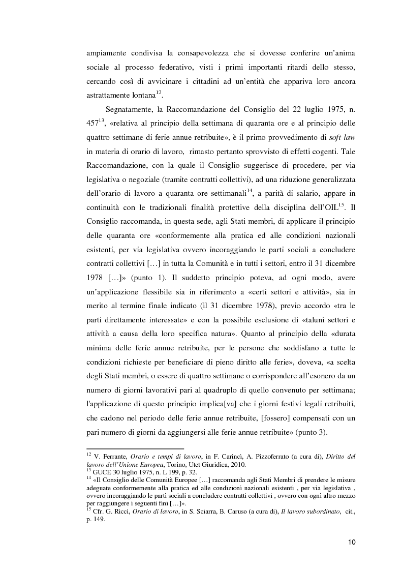 Anteprima della tesi: La normativa comunitaria in materia di orario di lavoro, Pagina 5
