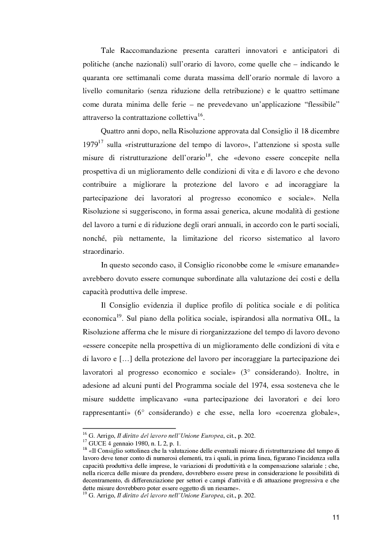 Anteprima della tesi: La normativa comunitaria in materia di orario di lavoro, Pagina 6