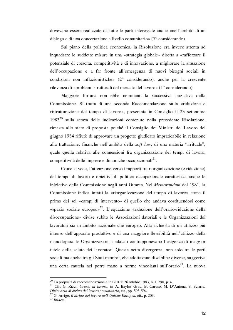 Anteprima della tesi: La normativa comunitaria in materia di orario di lavoro, Pagina 7