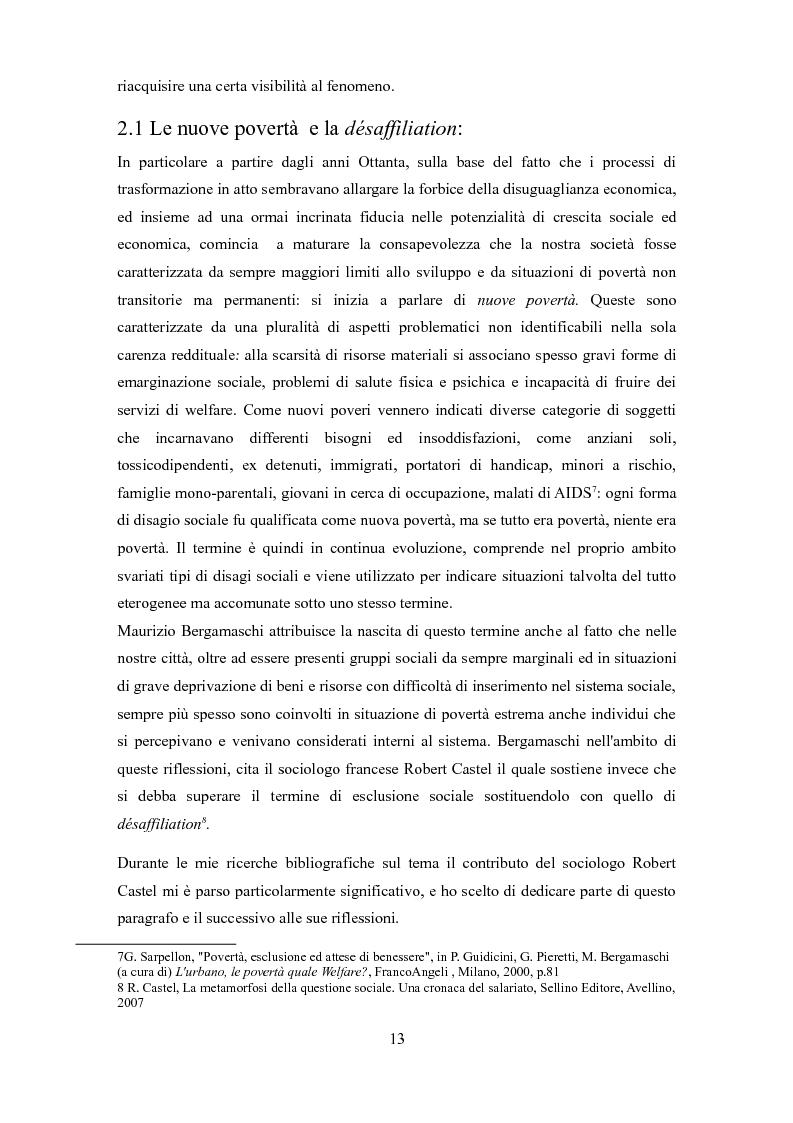 Anteprima della tesi: Le problematiche dell'adulto in difficoltà: Genova e Torino due realtà a confronto, Pagina 10