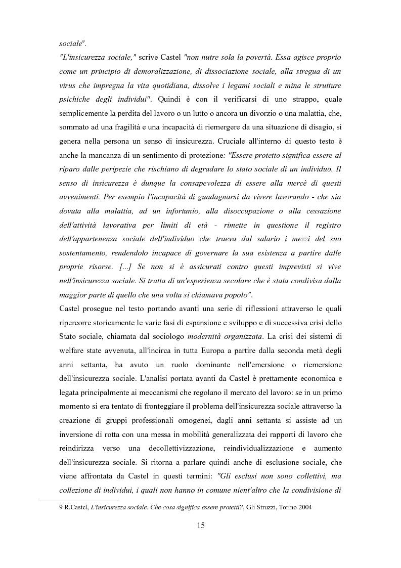Anteprima della tesi: Le problematiche dell'adulto in difficoltà: Genova e Torino due realtà a confronto, Pagina 12