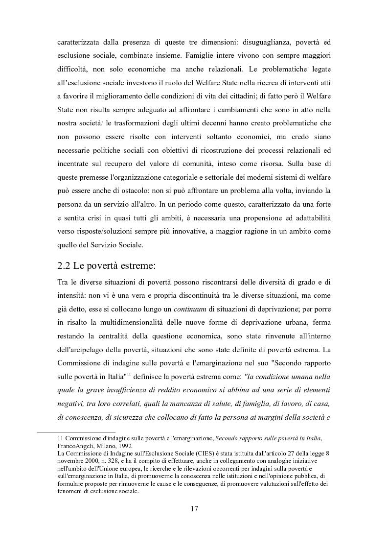 Anteprima della tesi: Le problematiche dell'adulto in difficoltà: Genova e Torino due realtà a confronto, Pagina 14