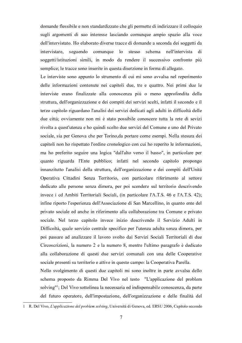 Anteprima della tesi: Le problematiche dell'adulto in difficoltà: Genova e Torino due realtà a confronto, Pagina 4