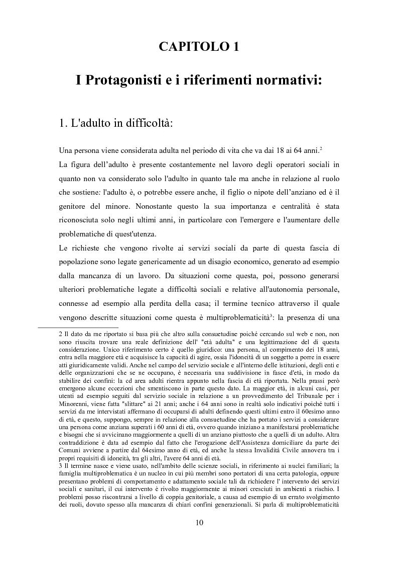 Anteprima della tesi: Le problematiche dell'adulto in difficoltà: Genova e Torino due realtà a confronto, Pagina 7