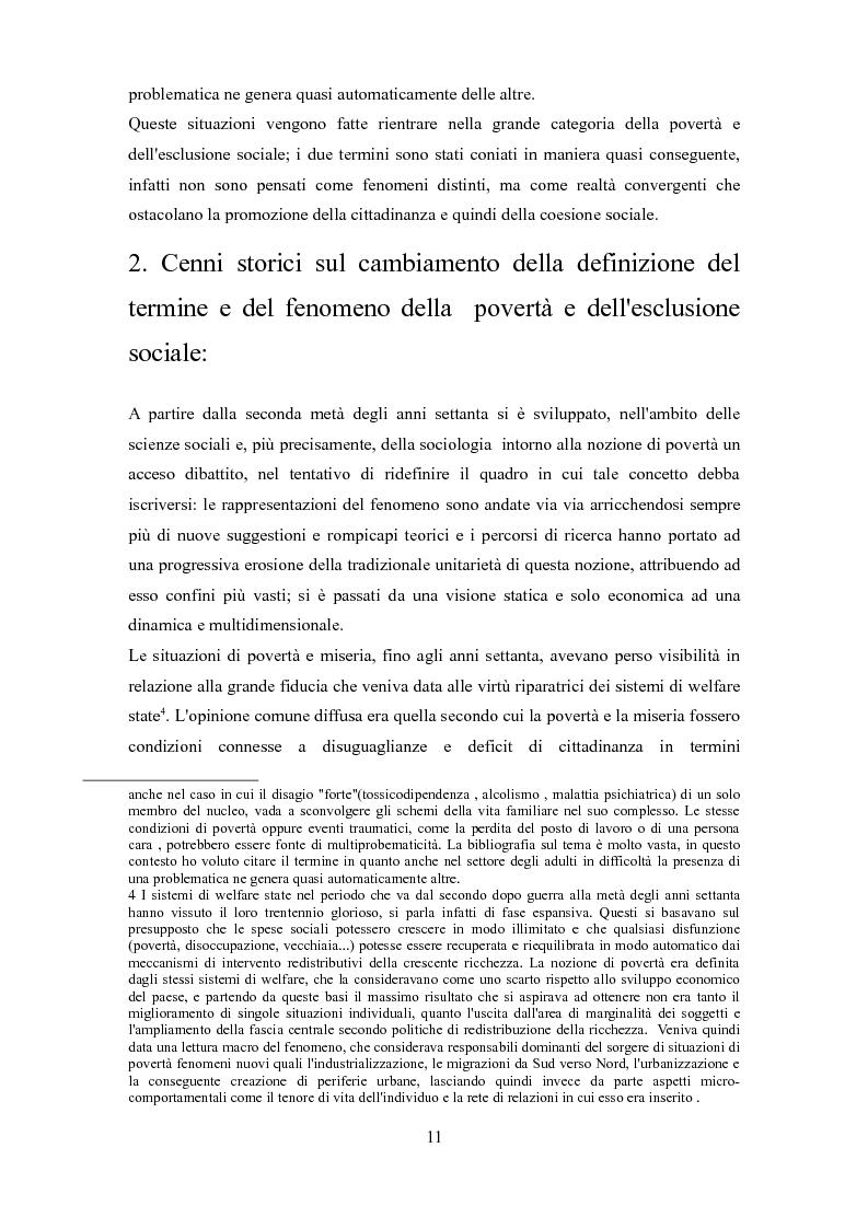 Anteprima della tesi: Le problematiche dell'adulto in difficoltà: Genova e Torino due realtà a confronto, Pagina 8