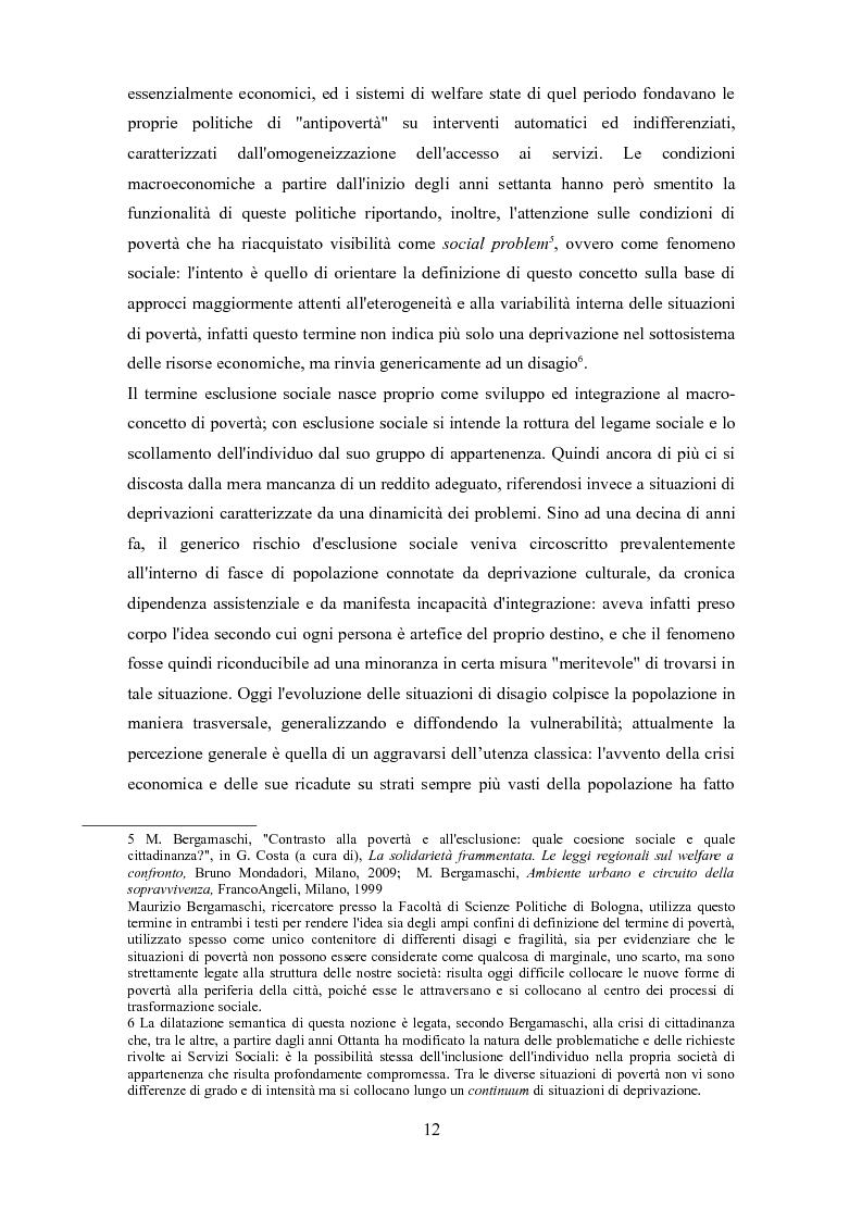Anteprima della tesi: Le problematiche dell'adulto in difficoltà: Genova e Torino due realtà a confronto, Pagina 9