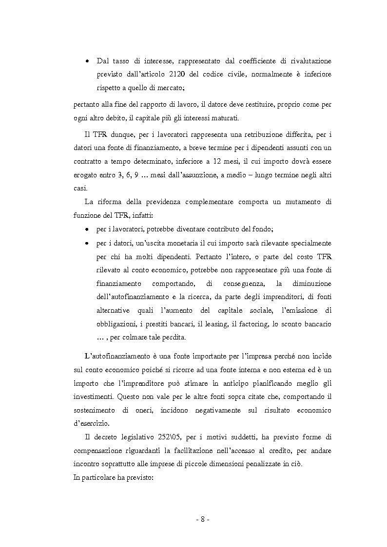 Anteprima della tesi: La Riforma del TFR. Implicazioni contabili ed amministrative., Pagina 3