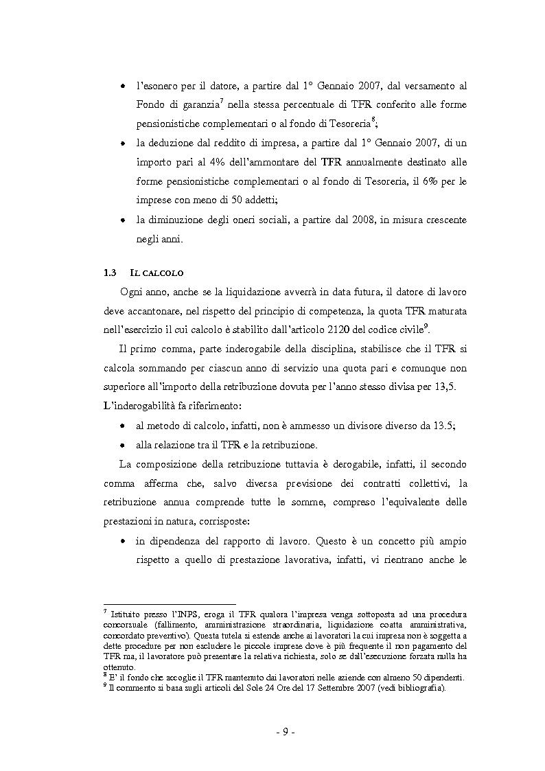 Anteprima della tesi: La Riforma del TFR. Implicazioni contabili ed amministrative., Pagina 4