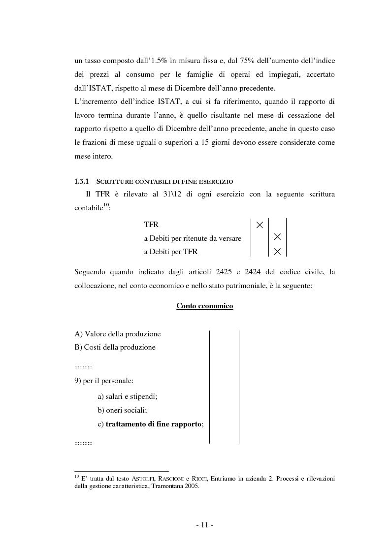 Anteprima della tesi: La Riforma del TFR. Implicazioni contabili ed amministrative., Pagina 6