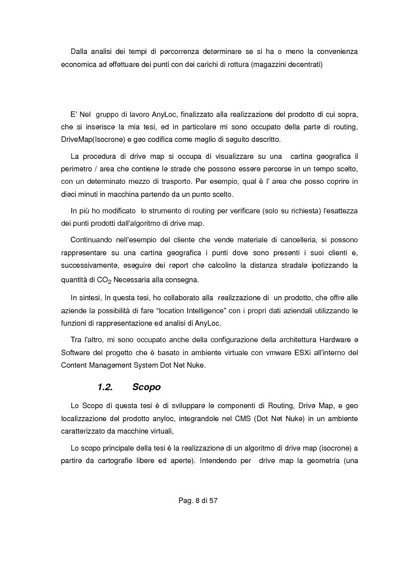 Anteprima della tesi: Realizzazione di servizio per determinare i segmenti di drive map (isocrone) su piattaforme proprietarie e libere, Pagina 3