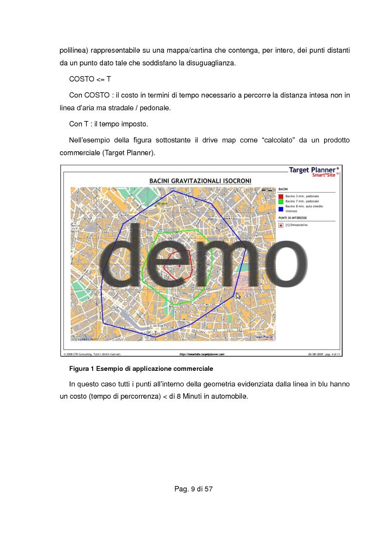 Anteprima della tesi: Realizzazione di servizio per determinare i segmenti di drive map (isocrone) su piattaforme proprietarie e libere, Pagina 4