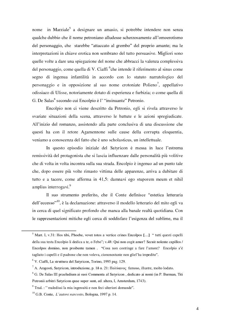 Anteprima della tesi: La poetica di Encolpio e il ritratto tacitiano di Petronio., Pagina 6