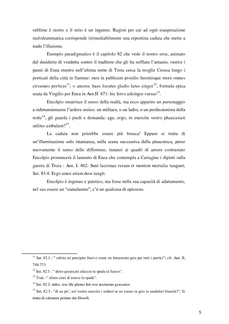 Anteprima della tesi: La poetica di Encolpio e il ritratto tacitiano di Petronio., Pagina 7