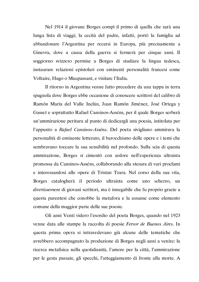 Anteprima della tesi: L'invecchiamento delle traduzioni. L'opera in prosa di Jorge Luis Borges, Pagina 10