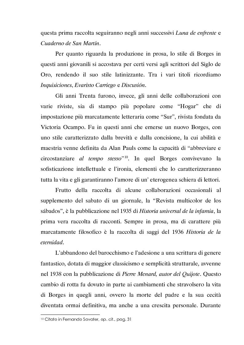 Anteprima della tesi: L'invecchiamento delle traduzioni. L'opera in prosa di Jorge Luis Borges, Pagina 11