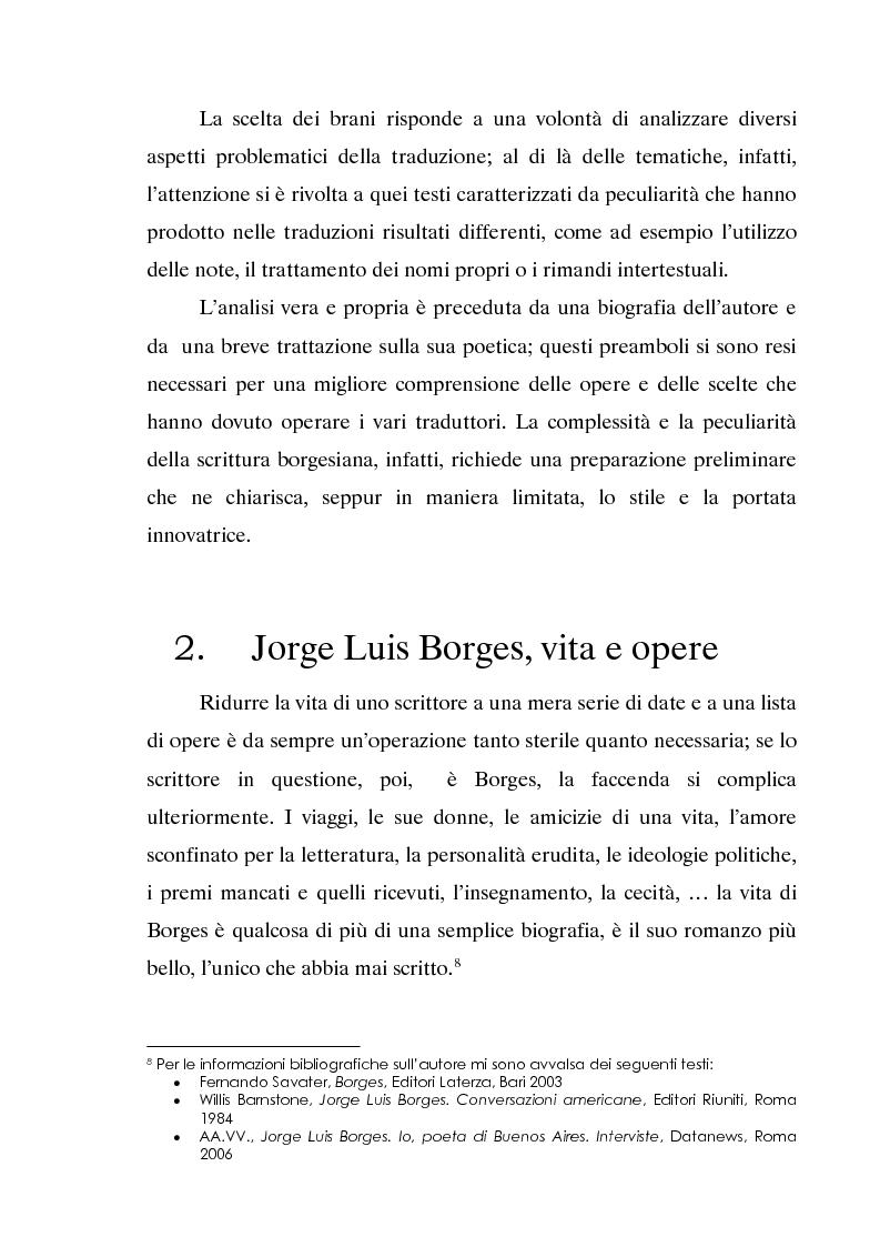 Anteprima della tesi: L'invecchiamento delle traduzioni. L'opera in prosa di Jorge Luis Borges, Pagina 8
